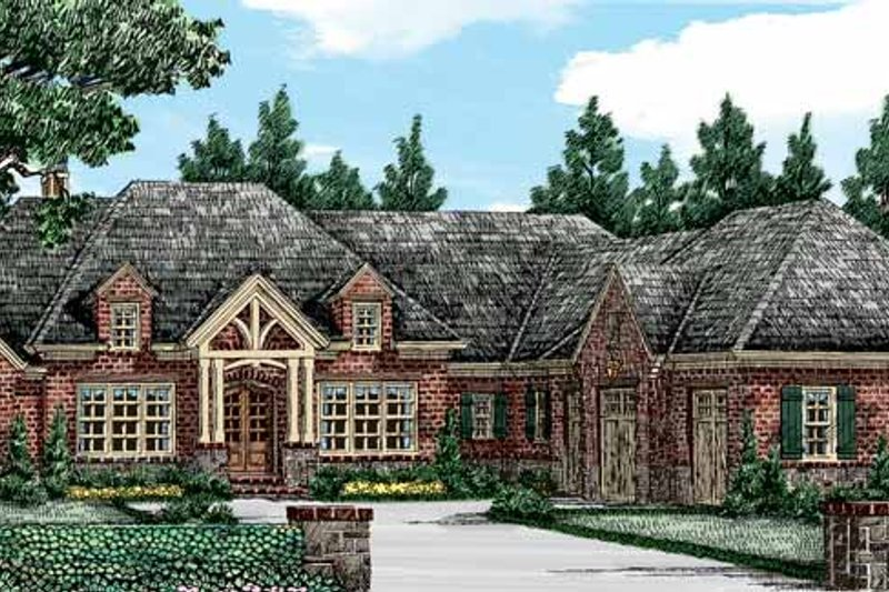 House Plan Design - European Exterior - Front Elevation Plan #927-401