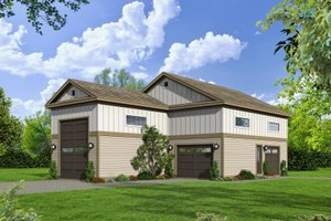 Cottage Exterior - Front Elevation Plan #932-118