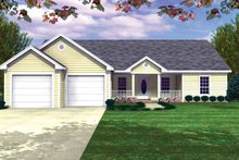 Architectural House Design - Country Exterior - Front Elevation Plan #21-409