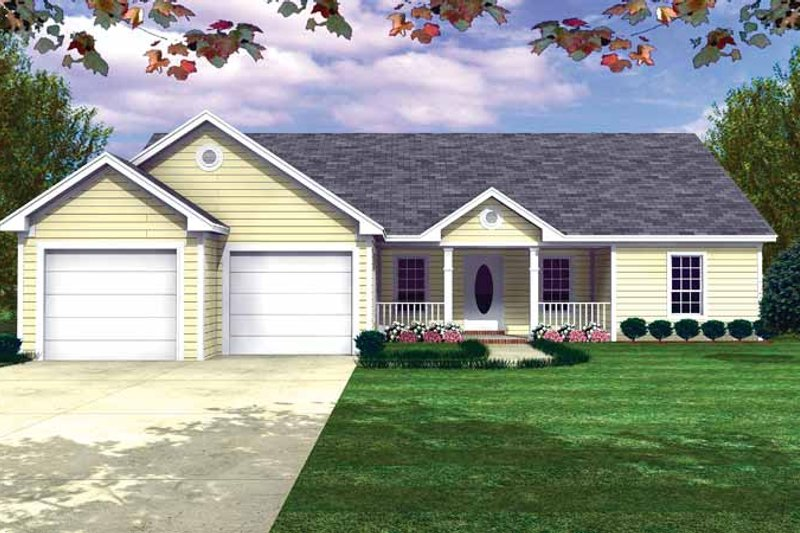 Country Exterior - Front Elevation Plan #21-409 - Houseplans.com