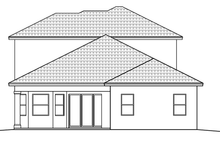 House Plan Design - Mediterranean Exterior - Rear Elevation Plan #1017-148
