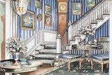 Classical Interior - Entry Plan #429-185