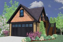 Craftsman Exterior - Front Elevation Plan #509-387