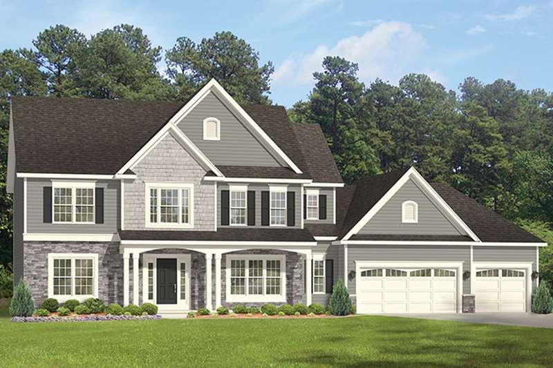 Architectural House Design - Colonial Exterior - Front Elevation Plan #1010-162