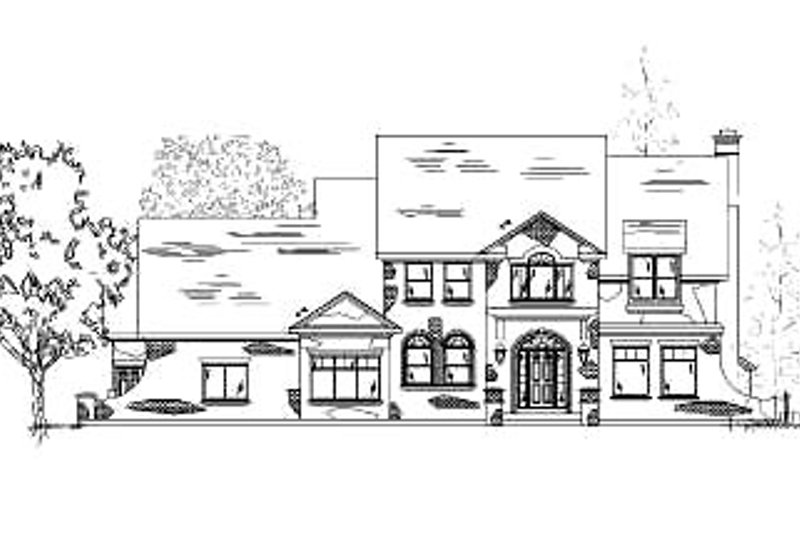 Country Exterior - Front Elevation Plan #5-196
