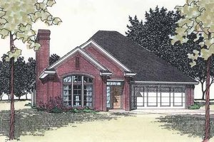 Ranch Exterior - Front Elevation Plan #310-1219