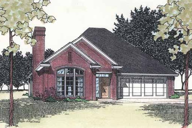 Architectural House Design - Ranch Exterior - Front Elevation Plan #310-1219