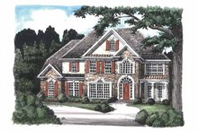 Colonial Exterior - Front Elevation Plan #927-76