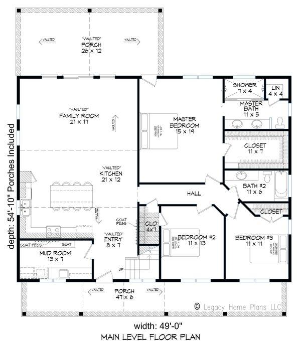 Cottage Floor Plan - Main Floor Plan #932-318
