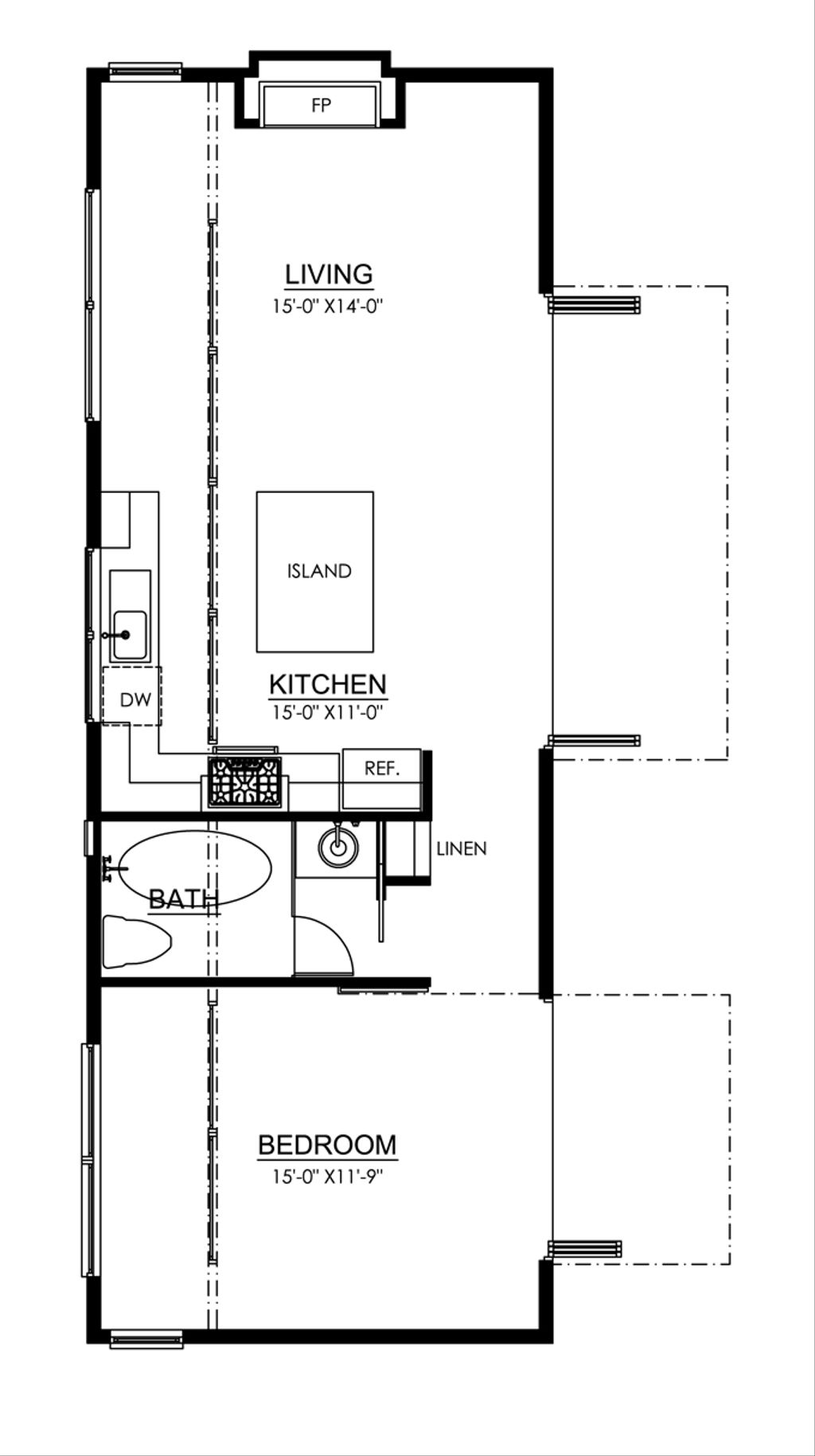 Traditional Style House Plan 1 Beds 1 Baths 700 Sq Ft Plan 484 10 Houseplans Com