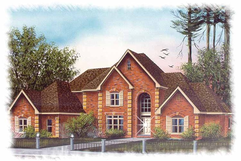 Traditional Exterior - Front Elevation Plan #15-367