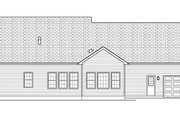 Ranch Style House Plan - 3 Beds 2.5 Baths 2006 Sq/Ft Plan #1010-145 Exterior - Rear Elevation