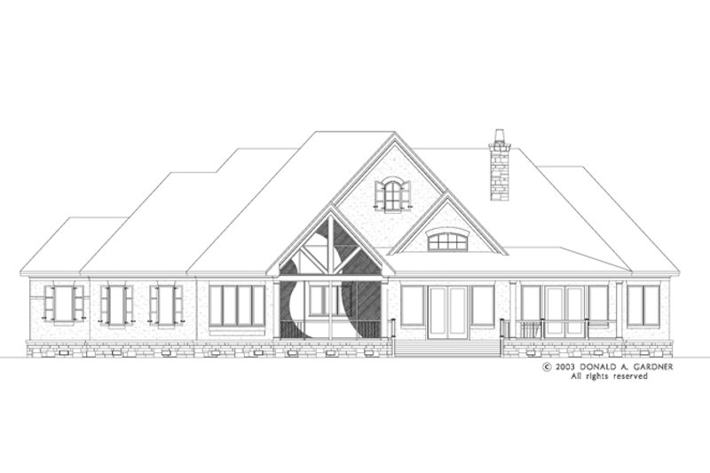 European Exterior - Rear Elevation Plan #929-942 - Houseplans.com
