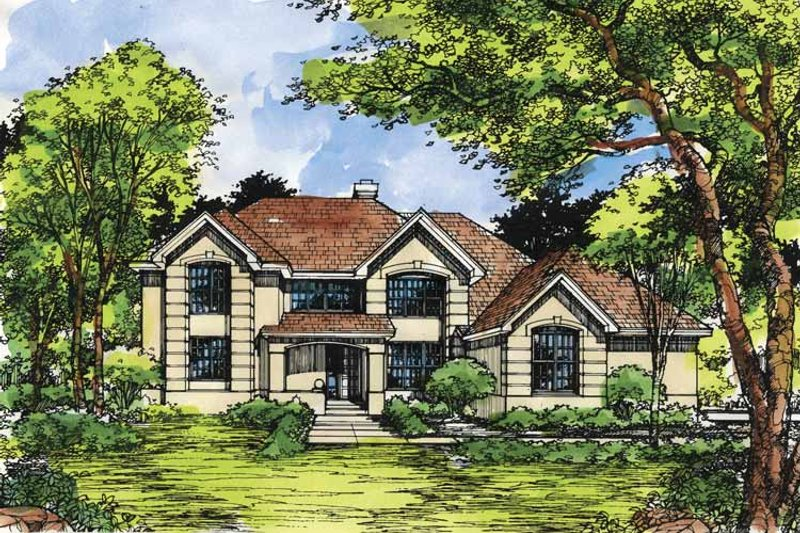Home Plan - Traditional Exterior - Front Elevation Plan #320-951