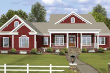 House Plan Design - Ranch Exterior - Front Elevation Plan #56-696