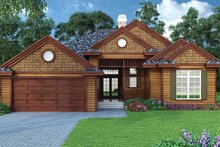 Home Plan - Ranch Exterior - Front Elevation Plan #417-800