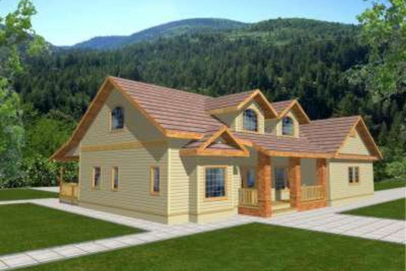 Traditional Exterior - Front Elevation Plan #117-330 - Houseplans.com