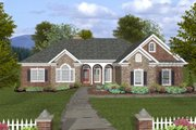 Ranch Style House Plan - 4 Beds 3.5 Baths 2000 Sq/Ft Plan #56-574 Exterior - Front Elevation