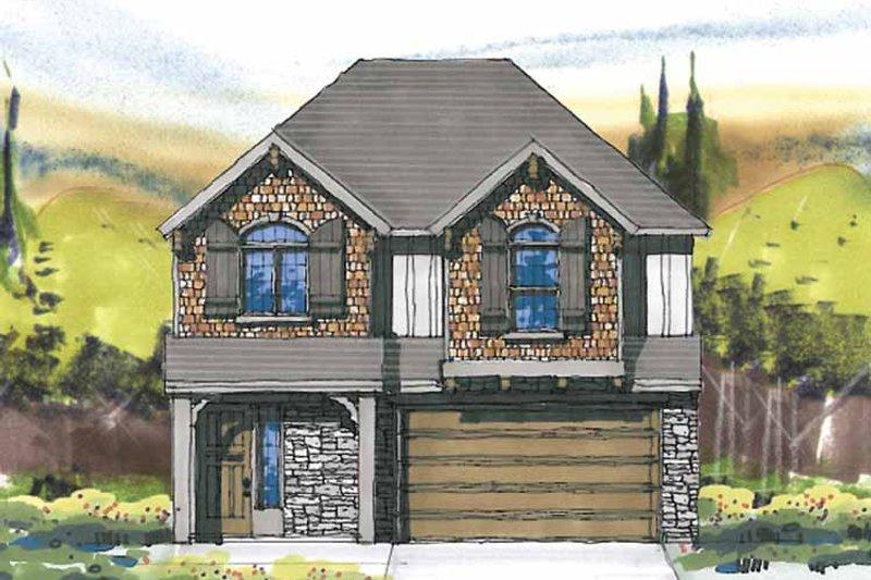 Prairie Exterior - Front Elevation Plan #509-235 - Houseplans.com