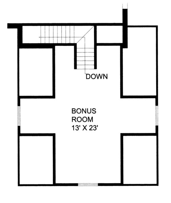 Craftsman Floor Plan - Other Floor Plan Plan #117-859