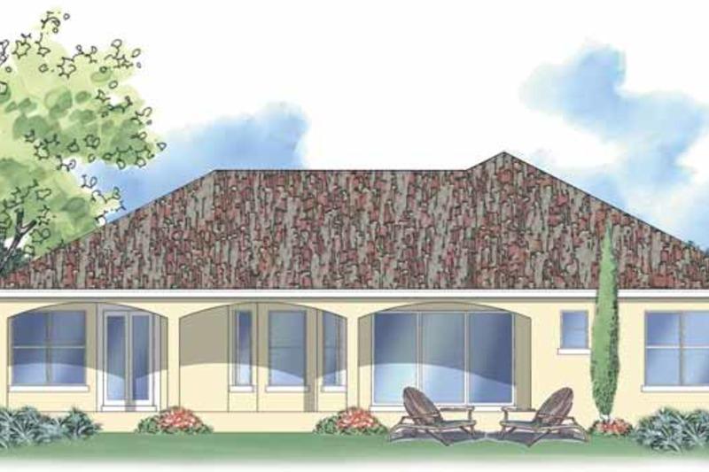 Mediterranean Exterior - Rear Elevation Plan #930-373 - Houseplans.com