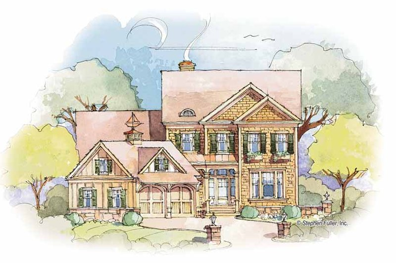 Colonial Exterior - Front Elevation Plan #429-354