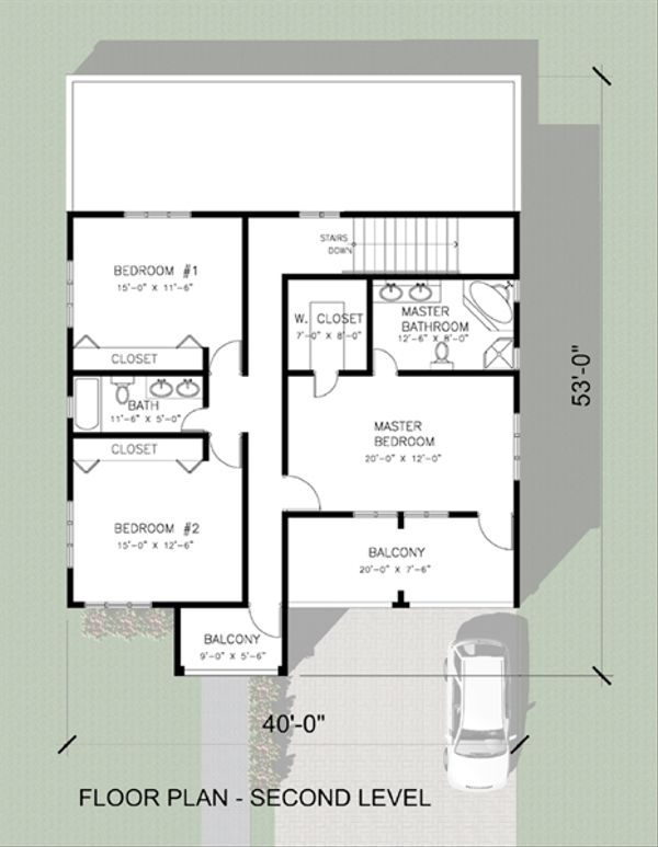 House Plan Design - Modern Floor Plan - Upper Floor Plan #495-4