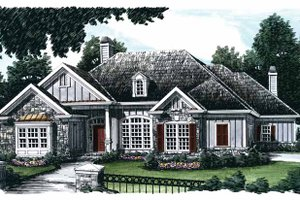 Country Exterior - Front Elevation Plan #927-674