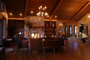 Craftsman Style House Plan - 4 Beds 4.5 Baths 4812 Sq/Ft Plan #921-23 Interior - Family Room