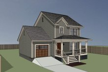 Architectural House Design - Farmhouse Exterior - Other Elevation Plan #79-124