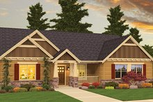 House Plan Design - Craftsman Exterior - Front Elevation Plan #943-45