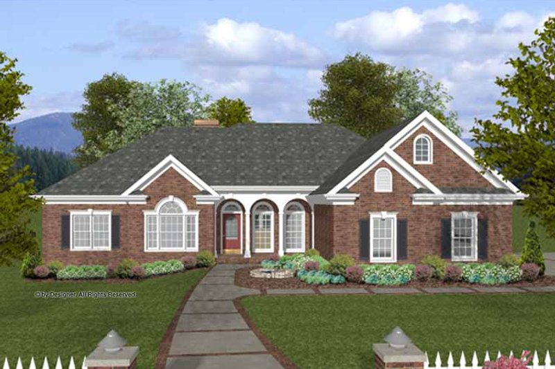 Traditional Exterior - Front Elevation Plan #56-683 - Houseplans.com