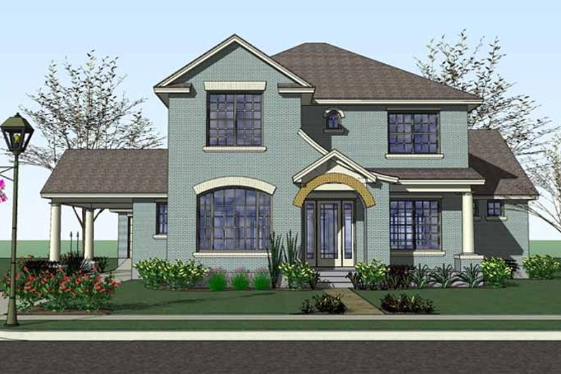 Country Exterior - Front Elevation Plan #120-221 - Houseplans.com