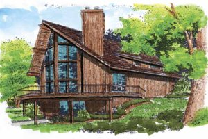 Dream House Plan - Contemporary Exterior - Front Elevation Plan #320-516