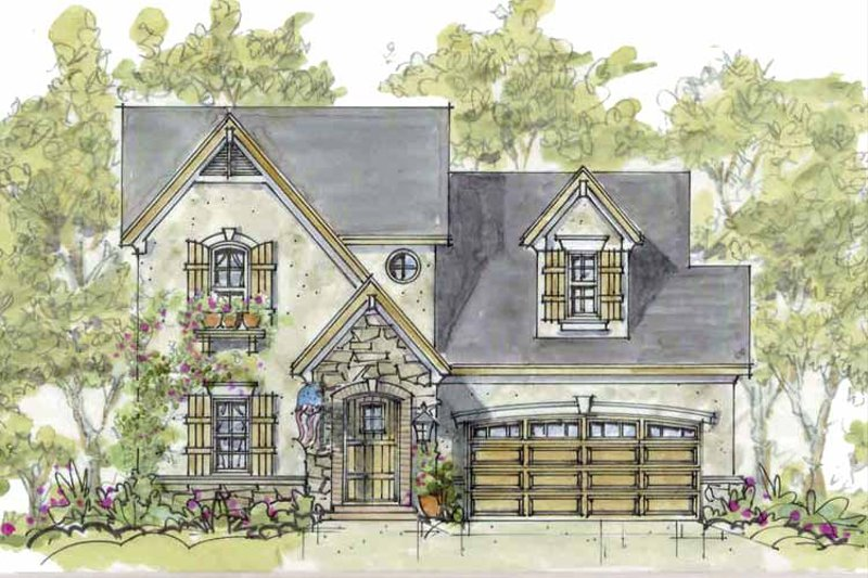 Country Exterior - Front Elevation Plan #20-2235 - Houseplans.com