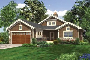 Craftsman Exterior - Front Elevation Plan #132-551