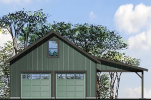 Architectural House Design - Traditional Exterior - Front Elevation Plan #124-986