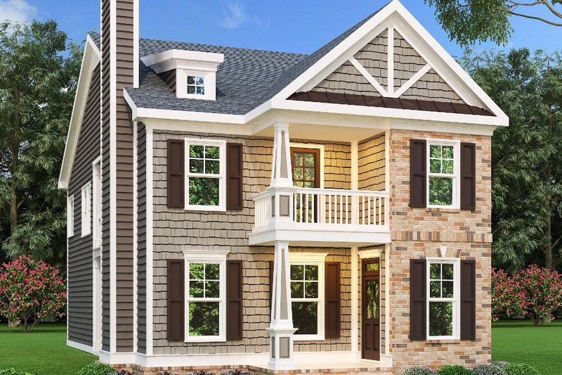 Craftsman Exterior - Front Elevation Plan #419-167