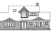 Country Style House Plan - 3 Beds 2.5 Baths 1953 Sq/Ft Plan #23-251 Exterior - Rear Elevation