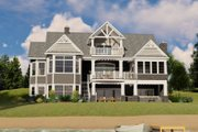Ranch Style House Plan - 2 Beds 3.5 Baths 2810 Sq/Ft Plan #1064-89 Exterior - Rear Elevation