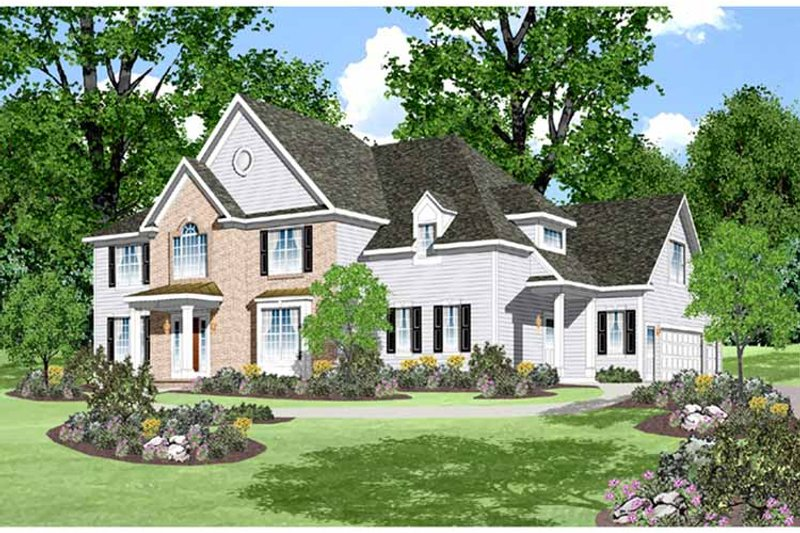 Traditional Exterior - Front Elevation Plan #328-454 - Houseplans.com