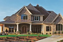 Dream House Plan - European Exterior - Front Elevation Plan #437-66