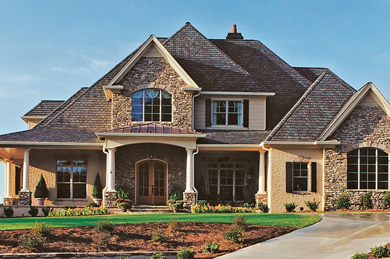 European Exterior - Front Elevation Plan #437-66 - Houseplans.com