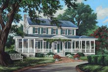 Dream House Plan - Traditional Exterior - Front Elevation Plan #137-339