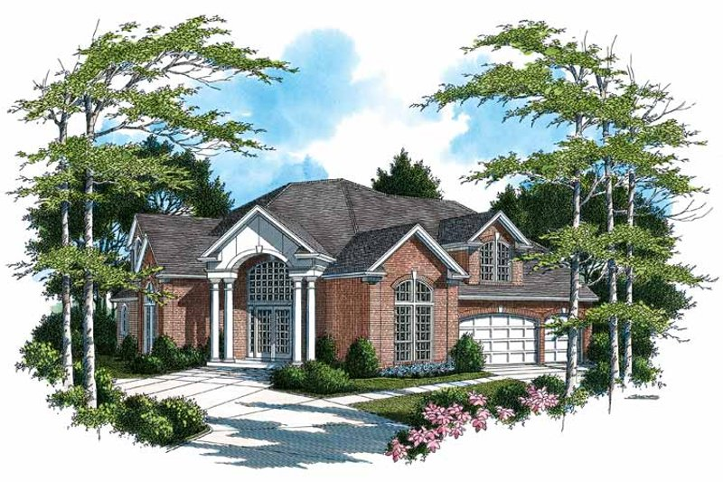 Traditional Exterior - Front Elevation Plan #48-802 - Houseplans.com