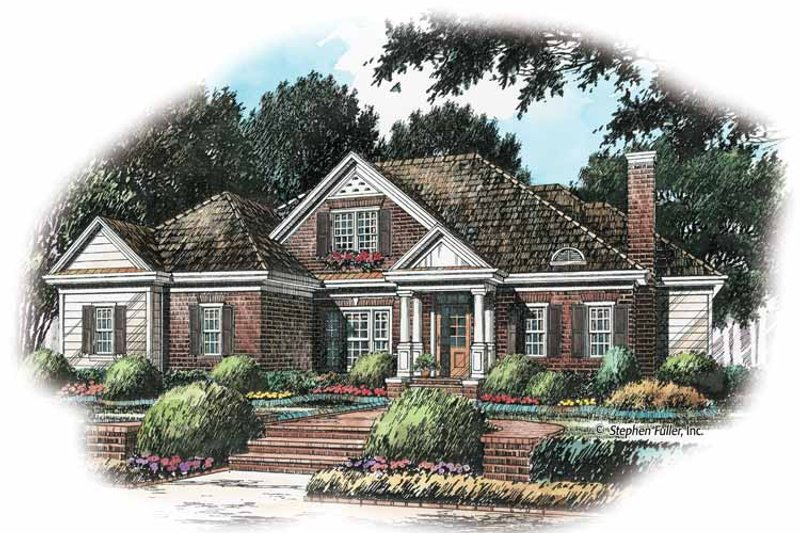 Colonial Exterior - Front Elevation Plan #429-241
