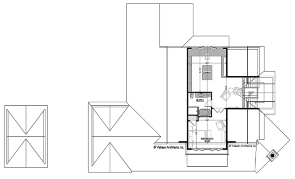 Craftsman Floor Plan - Upper Floor Plan Plan #928-295