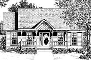 Cottage Style House Plan - 2 Beds 1 Baths 947 Sq/Ft Plan #14-154 Exterior - Front Elevation