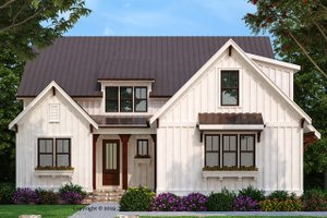 Architectural House Design - Farmhouse Exterior - Front Elevation Plan #927-1002