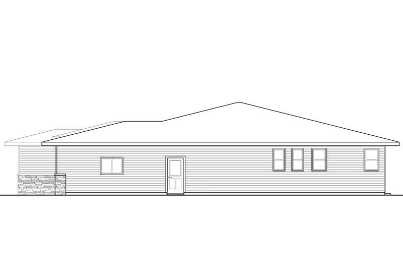 Prairie Exterior - Other Elevation Plan #124-946 - Houseplans.com